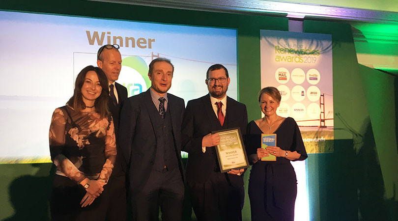 Aura Centre for Doctoral Training recognised as educational beacon at Humber Renewable Awards