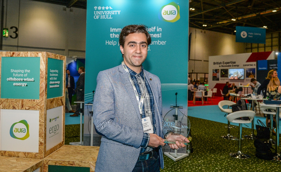 A young researcher from University of Hull won the Best Poster Award of Global Offshore Wind 2019